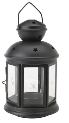 IKEA - ROTERA, Lantern for tealight, black indoor/outdoor black, Perfect for hanging at festive occasions to set that extra party mood. Suitable for both indoor and outdoor use. Use only 1 block candle with a max. Ikea Lanterns, Ikea Candles, Camping Lanterns, White Candles, Candle Lanterns, Small Lanterns, Lantern Centerpieces, Indoor Outdoor, Indoor Plants
