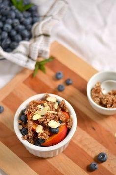 Raw, Vegan, Grain Free Blueberry Nectarine Crisp (For One!)