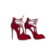 LE SILLA Ankle Boot In Velour, Suede Calfskin In Red Colour ($727) ❤ liked on Polyvore featuring shoes, boots, ankle booties, lace up ankle boots, red boots, lace up high heel booties, ankle boots and red suede booties