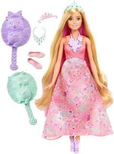 Barbie Dreamtopia Kleur en Stijl Prinses Blond - Barbiepop