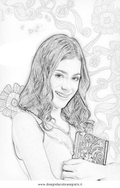 Printable Violetta holding her diary Coloring Page - Violetta writes down all the things happen to her in a much cherished diary that she brings with herself everywhere. Coloring Pages For Kids, Erotic Art, Pencil Drawings, Hold On, Activities, Sketches, Creative, Painting, Martina Stoessel