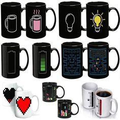Aliexpress.com: Comprar Cerámica taza de la magia regalo de los amantes cambiar los colores tazas de café de forro de la copa fiable proveedores en dream park