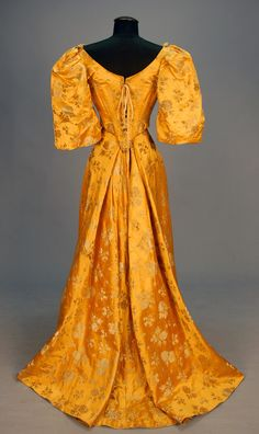 Ball gown, 1890's Back