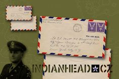 INDIANHEAD.CZ IM70004 WWII US ARMY 2ID EMPTY ENVELOPE FROM HOME TO LT.COL MATT F. C. KONOP