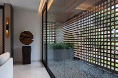 Modern Tropical House, Studio 24, House Design Pictures, House Extension Design, Brick Architecture, Tiny House Cabin, Grill Design, Facade Design, Modern House Plans