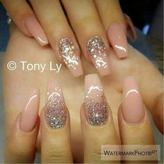 Pretty ballet shape nails