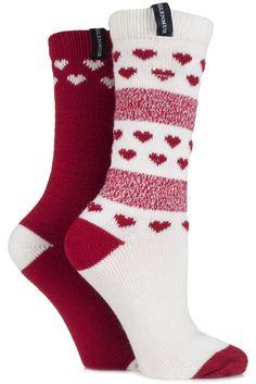 Glenmuir Fair Isle and Heart Patterned Merino Wool Blend Boot Socks £7.00