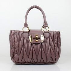 Uk 88011 Miu Tote Bag Lambskin Leather Purple 8114 Outlet