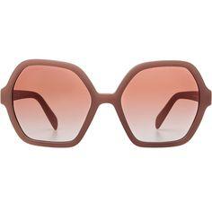 Prada Oversize Gradient Sunglasses ($205) ❤ liked on Polyvore featuring accessories, eyewear, sunglasses, glasses, sunnies, rose, pink sunglasses, prada, rose lens sunglasses and prada eyewear