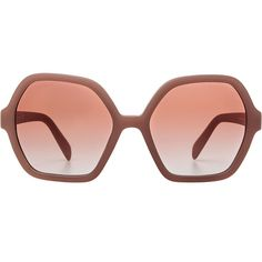 Prada Oversize Gradient Sunglasses found on Polyvore featuring accessories, eyewear, sunglasses, glasses, rose, rose lens sunglasses, over sized sunglasses, oversized glasses, pink lens sunglasses and logo lens sunglasses