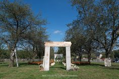 Wedding Arch to ceremony - Ironstone Ranch - Country Wedding  - @Ironstone Ranch - @C&J Catering - http://macfamilyphoto.com #rusticwedding #farmwedding #barnwedding #countrywedding