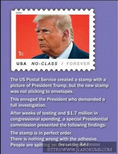 A Trump postage stamp