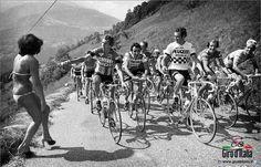 Imágenes históricas del Giro d' Italia.