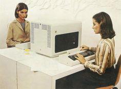 """IBM 5252 split a slightly bigger screen in a slightly different way. Retro Arcade Machine, Thread Up, Vacuum Tube, Old Tv, How To Make Shorts, Tv On The Radio, Secretary, 1980s, Photo Ideas"