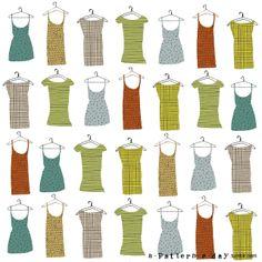 pattern illustration dresses