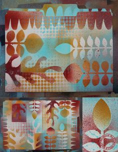 Use for your art journal page -> stencils and spraypaint -> on pinterest you can find to make yourself stencils and spray paint