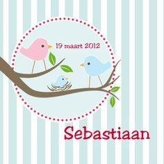 Design Birth Announcement / Geboortekaartje by Fientje en Co www.kaartje2go.nl