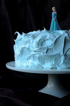 Frozen Elsa-kakku 5-vuotiaalle tytölle