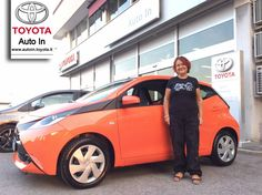 E' stato Amore a prima vista, per Aline una bellissima #Toyota #Aygo #Orange, congratulazioni !! #autointoyota #rimini #toyotarimini