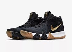 0d3ce4c7ae7b Men s Nike Kyrie 4 Pitch Blue Metallic Gold Basketball Shoes 943807-403