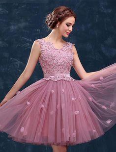 A-Line Homecoming Dresses, Pink Prom Dress, V-neck Prom Dress, V Neck Prom Dress, Modest Homecoming Dresses Short Homecoming Dresses Modest Homecoming Dresses, Dama Dresses, V Neck Prom Dresses, Pink Prom Dresses, Cheap Prom Dresses, Party Dresses For Women, Pink Dress, Modest Dresses, Cute Dresses