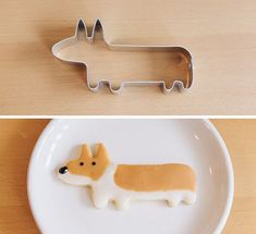 chipcococafe:  cutielittledimple:  Very lovely corgi cookie  if anyone is interested, you can buy the cookie cutter here