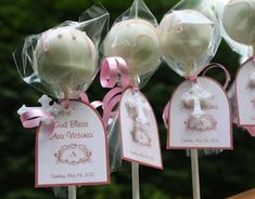 baptism decorations ideas | The pops are so stylish, they can be used as a decoration until the ...