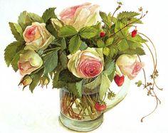 Акварельные цветы Hashimoto Fujico