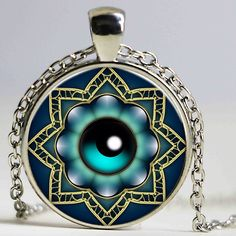 Vintage turkish evil eye jewelry pattern pendant silver plated necklaces pendants men chokers necklaces for women necklace