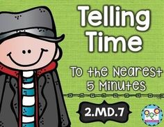 Use this 22 page resource with your 2nd grade classroom or homeschool students. With purchase you receive 5 math tasks for cooperative learning, 5 exit tickets for individual assessment, and I can statements. Your second graders will be able to tell time like pros! These are great for math centers or stations, small group work, morning work, homework, and more. Click through to grab yours today! $