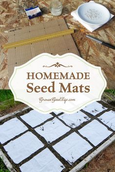 Instead of scattering seeds then thinning later, creating seed mats allows you to space out the seeds according to the suggested spacing on the back of the seed package or Square Foot Garden spacing recommendations. Seed mats or seed tapes are helpful for Organic Gardening, Gardening Tips, Vegetable Gardening, Sustainable Gardening, Flower Gardening, Seed Packaging, Square Foot Gardening, Garden Seeds, Herbs Garden