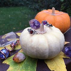 Wishing you all the most magically enchanted All Hallows Eve! ✨ #positivity #crystals #glitter #ring  #halloween #samhain #allsaintseve #witch #witches #pagan #wicked #spiritual #magicwand #crystalball #magic #tarot #jewelry #fashion #portland