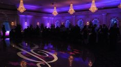 Uplighting at Valley Regency by Elite Sound Entertainment - PURPLE ;)