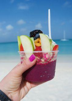 Acai bowls at Eduardo's beach shack aruba