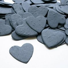 Perfect plantable seed confetti for an eco-friendly wedding or to use as eco-friendly baby shower favors. heart shaped plantable seed confetti will grow into wildflowers. Appx 350 plantable seed confetti hearts per bag. When the paper is planted in a pot of soil, the seeds grow and the paper composts away. All that is left behind is flowers, herbs or vegetables and no waste. It's easy to plant and grow.