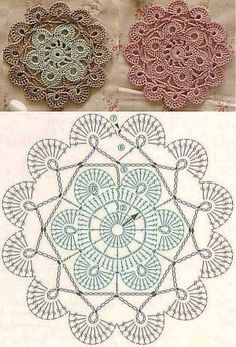 Resultado de imagen para japonesa coasters crochet quadrados pinterest