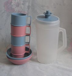 Vintage Children's Tupperware Toys Dish Set by pollypocketplus