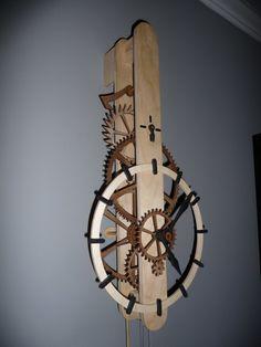 Wooden Gear Clock Plans