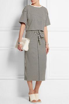 Tibi Ren striped cotton-blend jersey skirt $275  NET-A-PORTER.COM