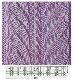 Lace Knitting Stitches, Lace Knitting Patterns, Knitting Charts, Lace Patterns, Knitting Designs, Knitting Socks, Stitch Patterns, Knitting Ideas, Crochet Baby Socks