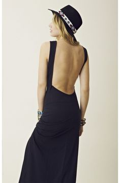 open back maxi from planet blue