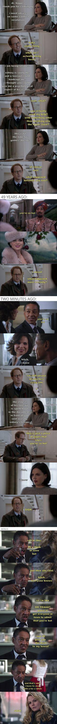 Drunk!Regina.   bitch, i know.    part 76 (source: thelast-thingido)