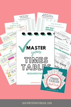 Complete pack of worksheets and activities to help your child master their times tables, multiplication and division. Plus BONUS Times Tables Flash Cards pack. Times Tables Flash Cards, Multiplication And Division, Free Math, Maths, Worksheets, Confidence, Packing, Child, Activities