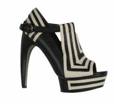 Knock out black and white shoes by Grey City on Aria!!