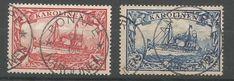 Obecnie na aukcjach #Catawiki: Niemieckie kolonie Karoliny 1900 - Numer Michela: 16 ,17