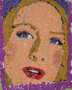 Art Lesson Plan: Torn Paper Collage Portrait Also use any picture Collage Portrait, Collage Art, Portraits, Collages, 8th Grade Art, Sixth Grade, Torn Paper, Cut Paper, Tissue Paper