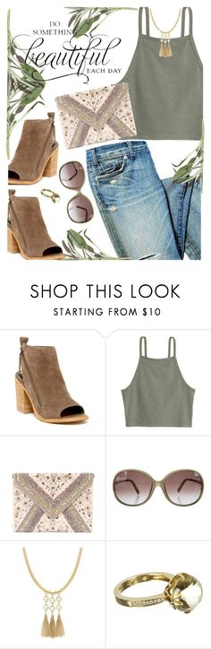 """""""Saturday Outfit"""" by juliehooper ❤ liked on Polyvore featuring Dolce Vita, LULUS, Emilio Pucci, Sparkling Sage, Frederic Sage, denim, polyvoreeditorial and anklemules"""