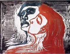Edvard Munch, Mann og kvinne I (Man and Woman I), 1905