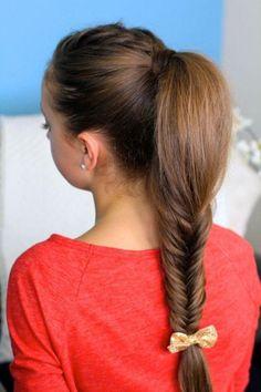 cabello largo trenzado para jovenes