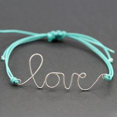Some really great ideas for wire word art bracelets